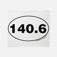 140.6 Miles Throw Blanket