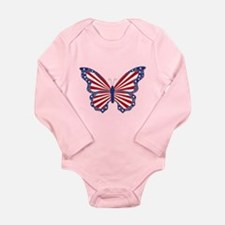 Patriotic Butterfly Body Suit
