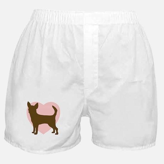 Chihuahua Heart Boxer Shorts