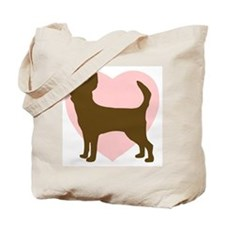 Chihuahua Heart Tote Bag