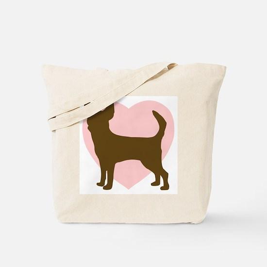 Chihuahua Heart Tote Bag