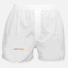 run-happy-smile-orange-blue Boxer Shorts