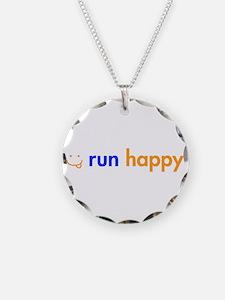 run-happy-smile-orange-blue Necklace