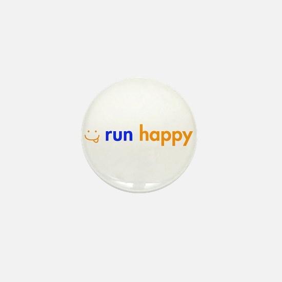 run-happy-smile-orange-blue Mini Button (10 pack)