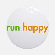 run-happy-fut-green-orange Ornament (Round)