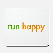 run-happy-fut-green-orange Mousepad