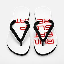 run-eat-sleep-repeat-SAVED-RED Flip Flops