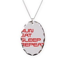 run-eat-sleep-repeat-SAVED-RED Necklace