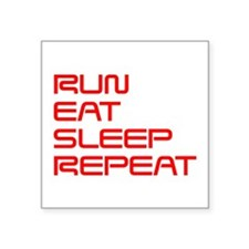 run-eat-sleep-repeat-SAVED-RED Sticker