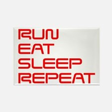 run-eat-sleep-repeat-SAVED-RED Rectangle Magnet