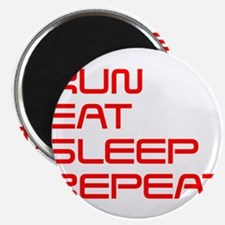 run-eat-sleep-repeat-SAVED-RED Magnet