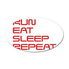 run-eat-sleep-repeat-SAVED-RED Wall Decal