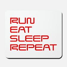 run-eat-sleep-repeat-SAVED-RED Mousepad