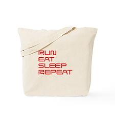 run-eat-sleep-repeat-SAVED-RED Tote Bag