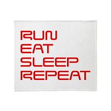 run-eat-sleep-repeat-SAVED-RED Throw Blanket