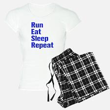 run-eat-sleep-repeat-ak-blue Pajamas