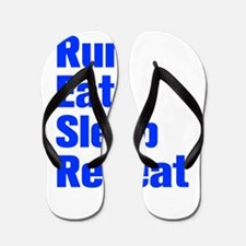 run-eat-sleep-repeat-ak-blue Flip Flops
