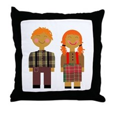 Ann and Andy 3 Throw Pillow