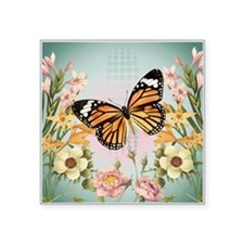 Modern Vintage Monarch butterfly Sticker