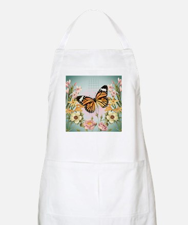 Modern Vintage Monarch butterfly Apron