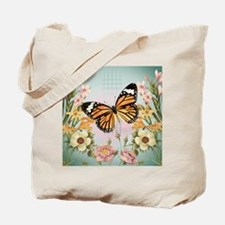 Modern Vintage Monarch butterfly Tote Bag