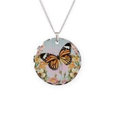 Modern Vintage Monarch butterfly Necklace