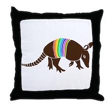 armadillo gürteltier sloth faultier Throw Pillow