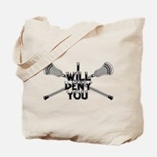 Lacrosse I Will Deny You Shorty Tote Bag