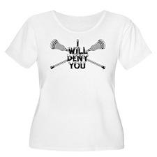 Lacrosse I Will Deny You Shorty Plus Size T-Shirt