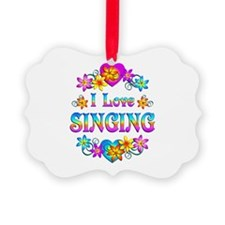I Love Singing Ornament