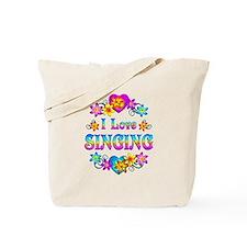 I Love Singing Tote Bag