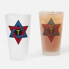 Hexagram Tau Patch Drinking Glass
