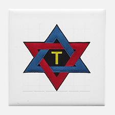 Hexagram Tau Patch Tile Coaster