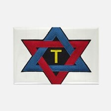Hexagram Tau Patch Rectangle Magnet