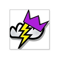 "Lightning Strike Crown Square Sticker 3"" x 3"""