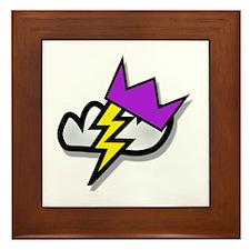 Lightning Strike Crown Framed Tile