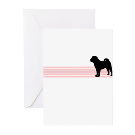 Retro Chinese Shar Pei Greeting Cards (Package of