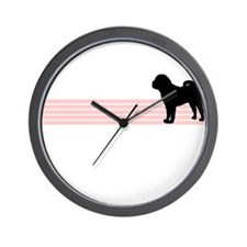Retro Chinese Shar Pei Wall Clock