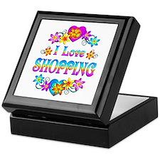 I Love Shopping Keepsake Box