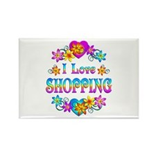 I Love Shopping Rectangle Magnet