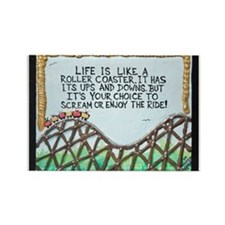 """ ROLLERCOASTER Quote "" / Sculpted Art Rectangle M"