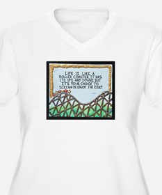 """"""" ROLLERCOASTER Quote """" / Sculpted Art T-Shirt"""