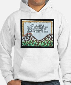 """"""" ROLLERCOASTER Quote """" / Sculpted Art Hoodie"""