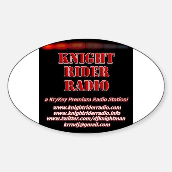 Unique Internet radio station Sticker (Oval)