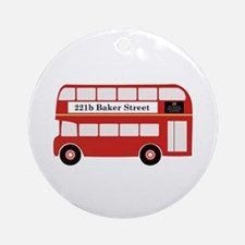 Baker Street Bus Ornament (Round)
