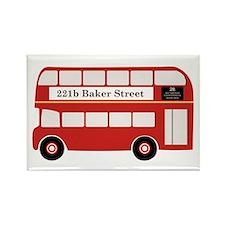 Baker Street Bus Rectangle Magnet