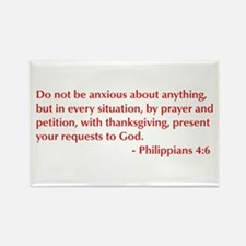 Philippians-4-6-opt-burg Rectangle Magnet