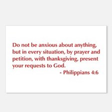 Philippians-4-6-opt-burg Postcards (Package of 8)
