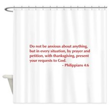 Philippians-4-6-opt-burg Shower Curtain