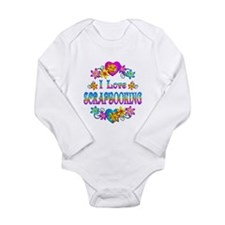 I Love Scrapbooking Long Sleeve Infant Bodysuit